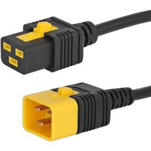 כבל חשמל יצוק עם נעילת 2M , IEC C19 ~ IEC C20 - V-LOCK SCHURTER