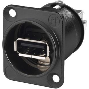 מתאם לפנל - (NAUSB-W-B - USB 2.0 A (F) ~ USB 2.0 B (F NEUTRIK