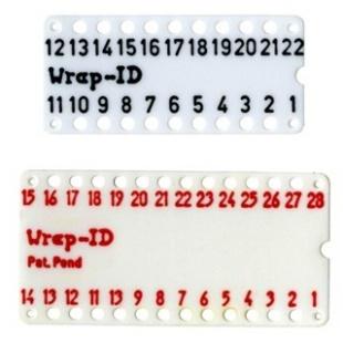 לוחית ID ממוספרת ''0.3 WIRE WRAP לתושבות - 18 מגעים MULTICOMP