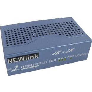 מפצל אקטיבי 2PORT , 3D & 4K - HDMI NEWLINK