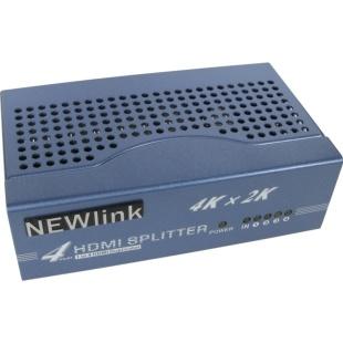 מפצל אקטיבי 4PORT , 3D & 4K - HDMI NEWLINK
