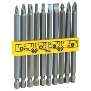 סט ביטים ארוכים מקצועי למברגה - 10 יחידות - CK TOOLS T4525 CK TOOLS