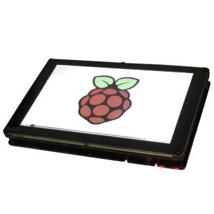 קיט מארז ומסך ''9 LCD עבור RASPBERRY PI - מסגרת שחורה HDMIPI