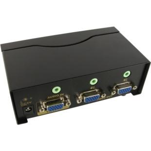 מפצל אקטיבי 2PORT + AUDIO , 450MHZ - VGA NEWLINK