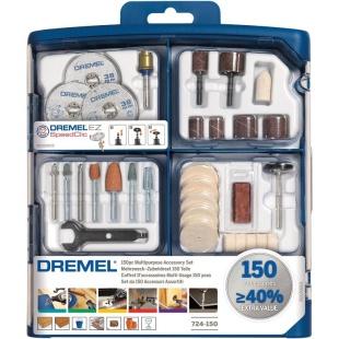 ערכת 150 אביזרים רב תכליתיים למשחזת ציר - DREMEL 724 DREMEL