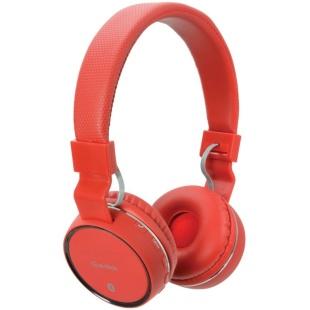 אוזניות BLUETOOTH עם רדיו AV:LINK PBH10 RED - FM AV:LINK