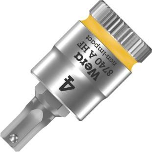 ביט אלן 4MM למפתח ''1/4 - WERA ZYKLOP 8740 WERA