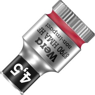 ביט בוקסה 4.5MM למפתח ''1/4 - WERA ZYKLOP 8790 WERA