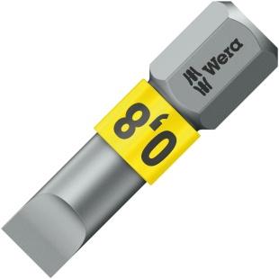 ביט למברגה - ראש שטוח - WERA 800/1 BTZ - 0.8MM X 5.5MM X 25MM WERA