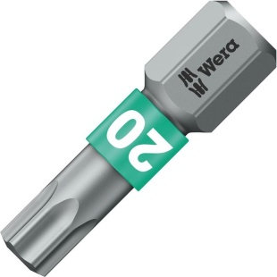 ביט למברגה - ראש כוכב - WERA 867/1 BTZ - TX20 X 25MM WERA