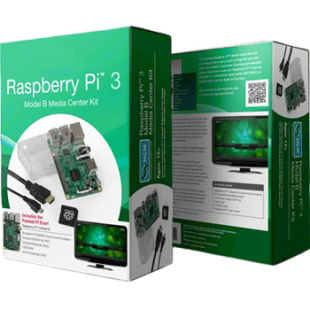 קיט פיתוח - RASPBERRY PI 3 - MODEL B+ - MEDIA CENTER KIT RASPBERRY PI
