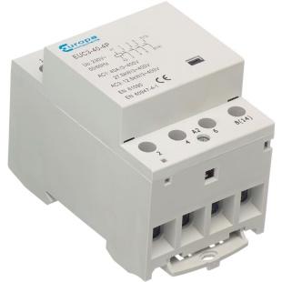 מגען (קונטקטור) לפס דין - מודול משולש - 4N/O 63A 230VAC EUROPA COMPONENTS