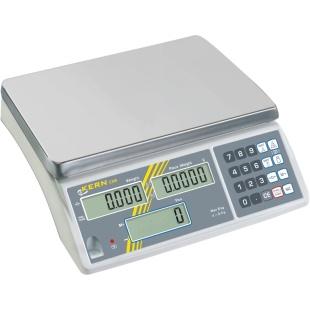 משקל ספירה שולחני דיגיטלי - עד 15 ק''ג - רזולוציה 1 גרם - CXB 15K1 KERN