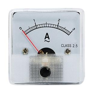 מד זרם (אמפרמטר) אנלוגי - 45X45MM 0-3A MULTICOMP