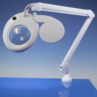 זכוכית מגדלת שולחנית עם תאורה - SLIMLINE LED - הגדלה X3 LIGHTCRAFT