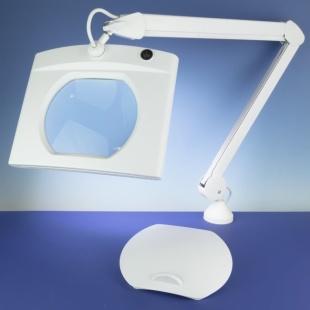 מנורת עבודה שולחנית עם זכוכית מגדלת - PREMIUM LED - הגדלה X3 LIGHTCRAFT