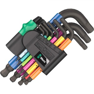 סט מפתחות אלן כדורי מ''מ - WERA 950/9 SPKS WERA