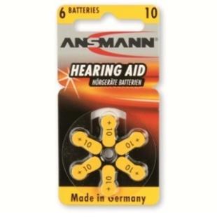סט 6 סוללות למכשירי שמיעה - ANSMANN AZA10 ANSMANN