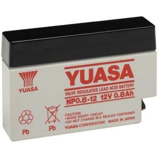 מצבר עופרת נטען - YUASA NP0.8-12 - 12V 0.8AH YUASA