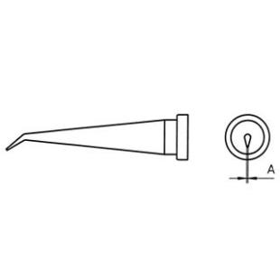 ראש למלחם - WELLER LT-LX - 0.2MM LONG CONICAL BENT WELLER