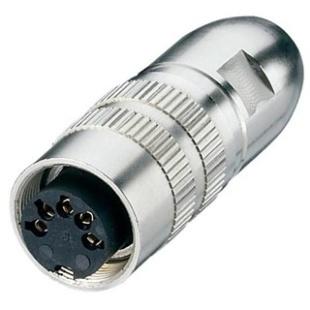 מחבר תעשייתי DIN 0332 - נקבה להלחמה לכבל - 8 מגעים LUMBERG
