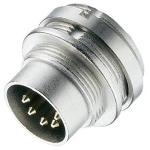 מחבר תעשייתי DIN 0332 - זכר להלחמה לפנל - 14 מגעים LUMBERG
