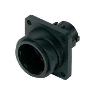 מחבר תעשייתי C16-3 - זכר לפנל - 8 מגעים + הארקה AMPHENOL