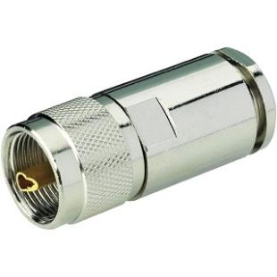 מחבר UHF - זכר להלחמה לכבל RG213 MULTICOMP