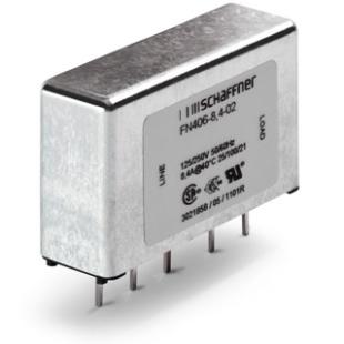 מסנן EMC / RFI למעגל מודפס - סדרה 6A - FN406 SCHAFFNER