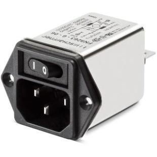 מסנן EMC / RFI עם כניסת מתח IEC - סדרה 6A - FN9264 SCHAFFNER
