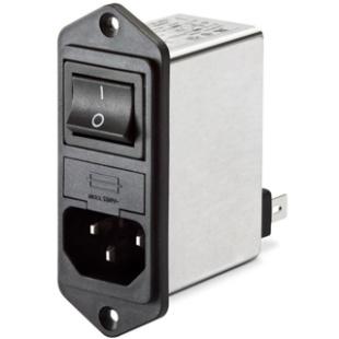 מסנן EMC / RFI עם כניסת מתח IEC - סדרה 4A - FN282 SCHAFFNER