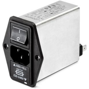מסנן EMC / RFI עם כניסת מתח IEC - סדרה 2.5A - FN393E SCHAFFNER