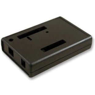 קופסת זיווד שחורה לכרטיס פיתוח - ARDUINO UNO HAMMOND
