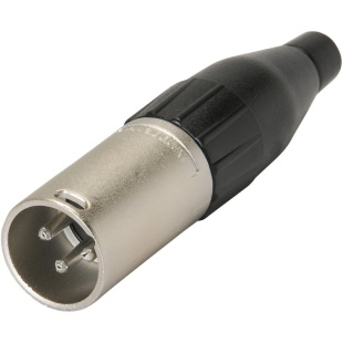 מחבר XLR זכר להלחמה לכבל - 4 מגעים - AMPHENOL AC4M AMPHENOL AUDIO