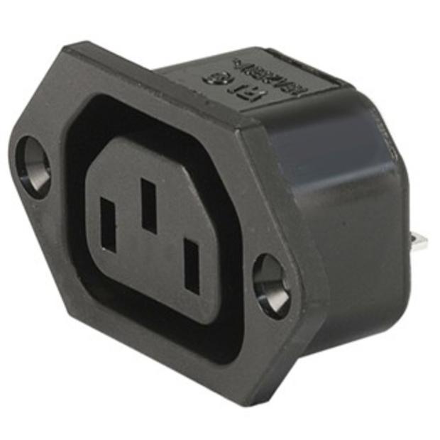 שקע חשמל IEC 10A לפנל MULTICOMP