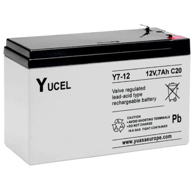 מצבר עופרת נטען - YUCEL Y7-12 - 12V 7AH YUASA