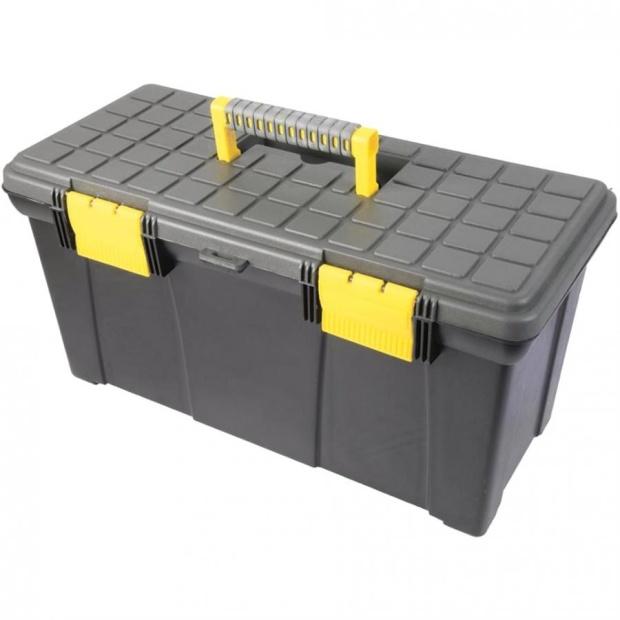 ארגז כלים מפלסטיק קשיח - DURATOOL - 500X250X255 DURATOOL