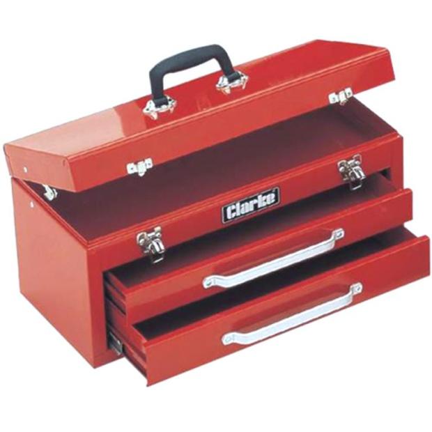 ארגז כלים מפלדה - 2 מגירות + תא עליון - CLARKE CB2 CLARKE