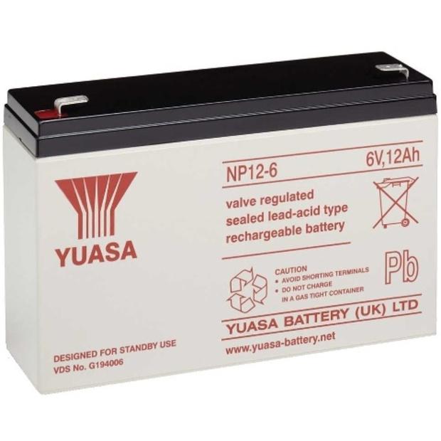מצבר עופרת נטען - YUASA NP12-6 - 6V 12AH YUASA
