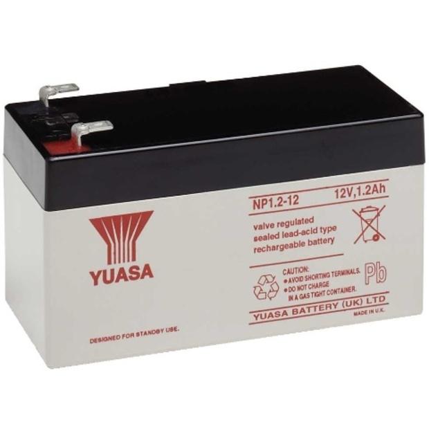 מצבר עופרת נטען - YUASA NP1.2-12 - 12V 1.2AH YUASA