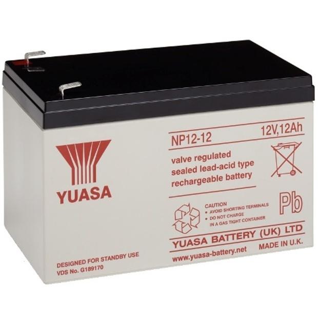 מצבר עופרת נטען - YUASA NP12-12 - 12V 12AH YUASA
