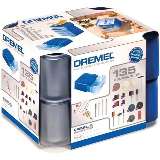 ערכת 135 אביזרים מודולריים למשחזת ציר - DREMEL 721 DREMEL