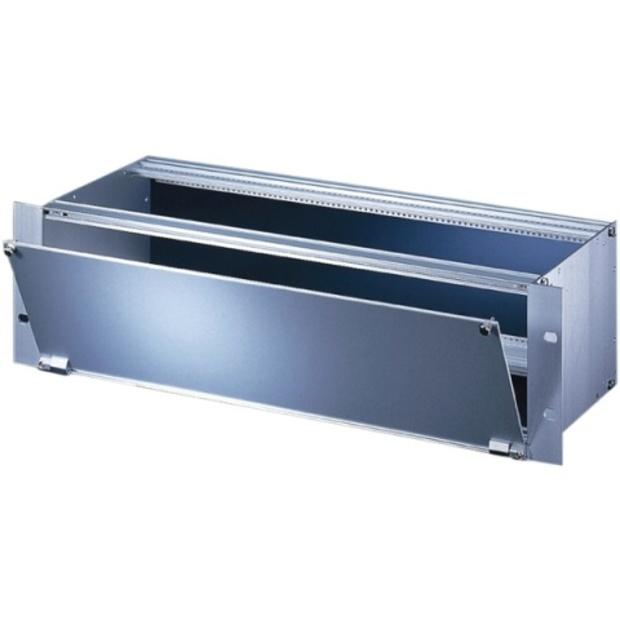 פנל ציר אלומיניום מסוכך למארז 19 אינץ' - 261.8MM X 426.4MM - 6U SCHROFF
