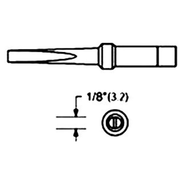 ראש למלחם - WTCP PTM8 - 3.2MM LONG CHISEL WELLER