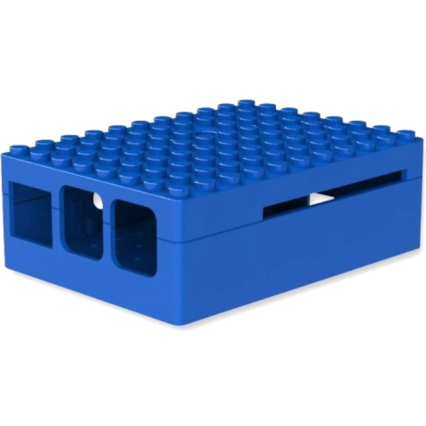 קופסת זיווד PI-BLOX כחולה עבור RASPBERRY PI 2 CAMDENBOSS