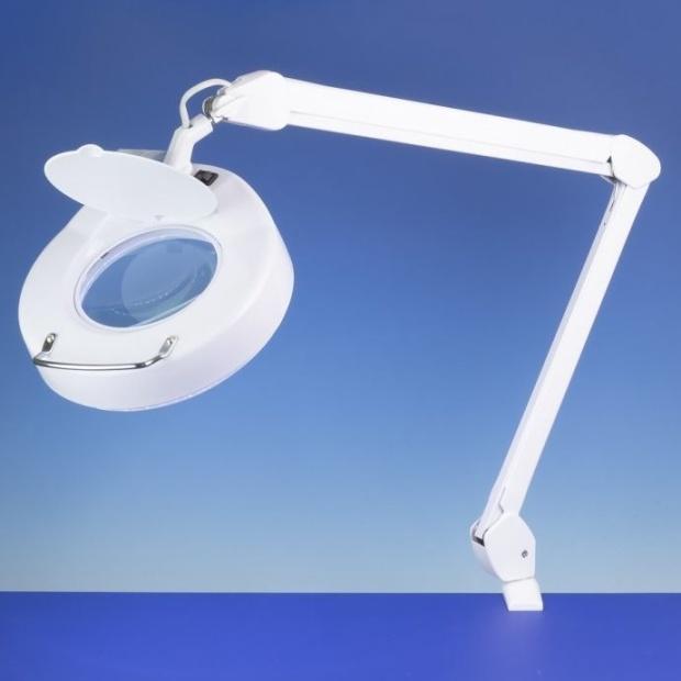 מנורת עבודה שולחנית עם זכוכית מגדלת - CLASSIC - הגדלה X3 LIGHTCRAFT