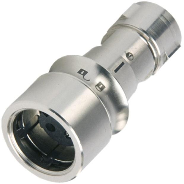 מחבר תעשייתי PXM6010 - זכר ללחיצה לכבל - פין נקבה - 16 מגעים BULGIN