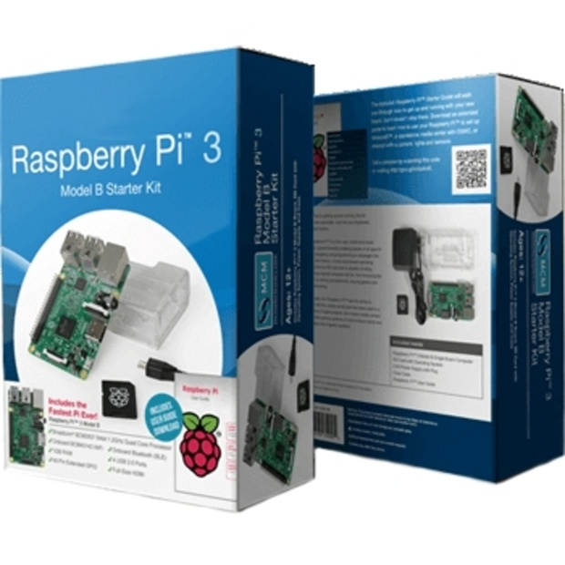 קיט פיתוח - RASPBERRY PI 3 - MODEL B - STARTER KIT RASPBERRY PI