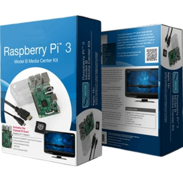 קיט פיתוח - RASPBERRY PI 3 - MODEL B - MEDIA CENTER KIT RASPBERRY PI