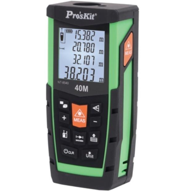 מד טווח לייזר דיגיטלי מקצועי - עד 40 מטר - PROSKIT NT-8540 PROSKIT